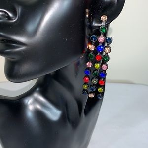 Jewelry - 3 strand color earrings